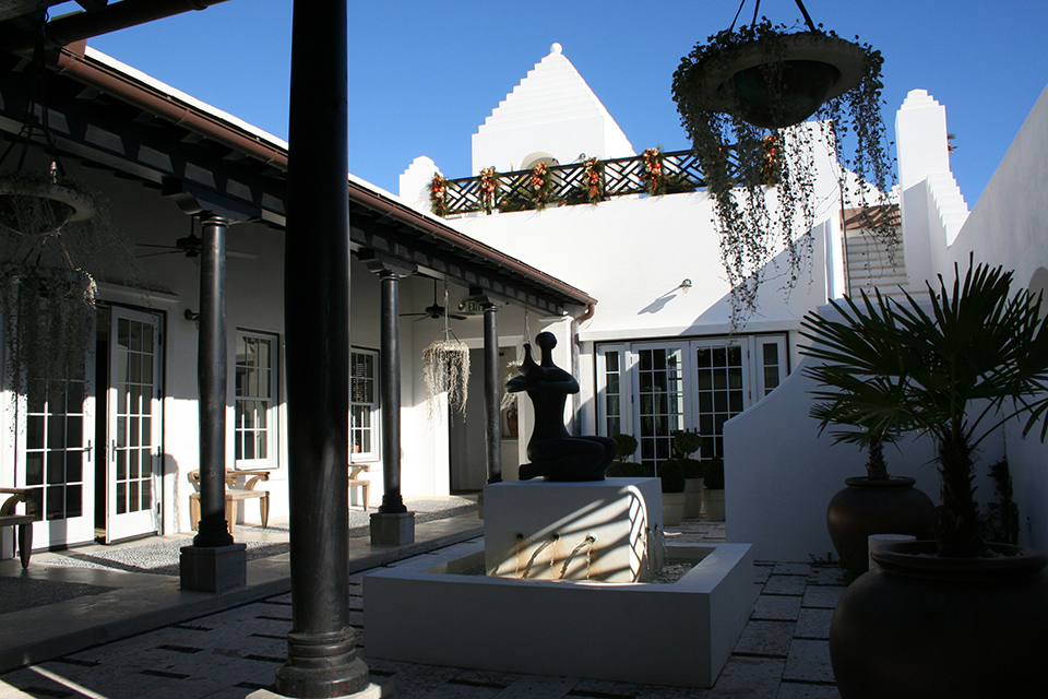 Alys Beach Sales Center-Exterior-Courtyard