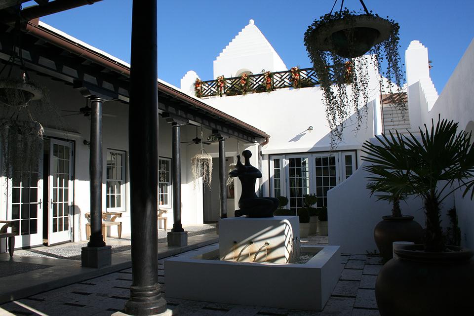 Alys Beach Sales Center-Exterior-Courtyard