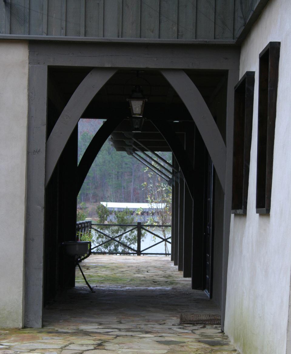 McNamara-Saunders Bridge House-Exterior-Arch